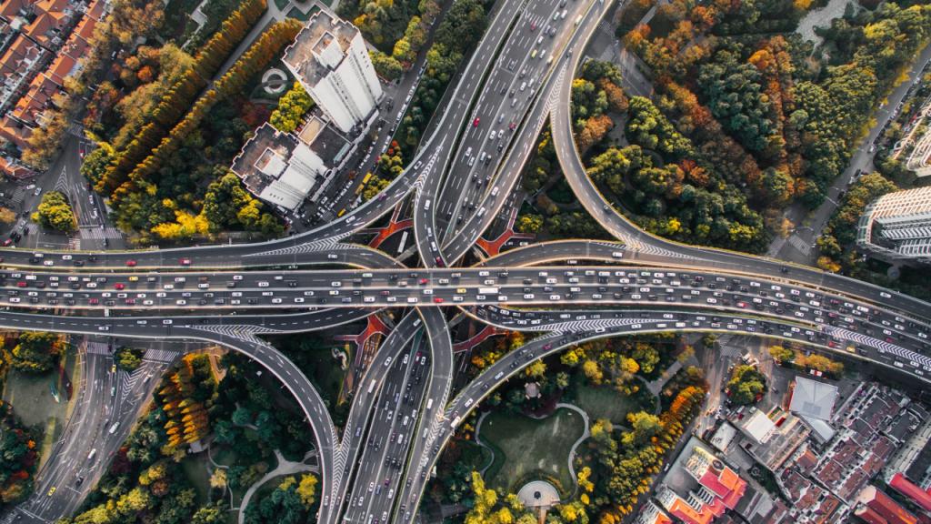 Đường giao lộ giao thông trên cao