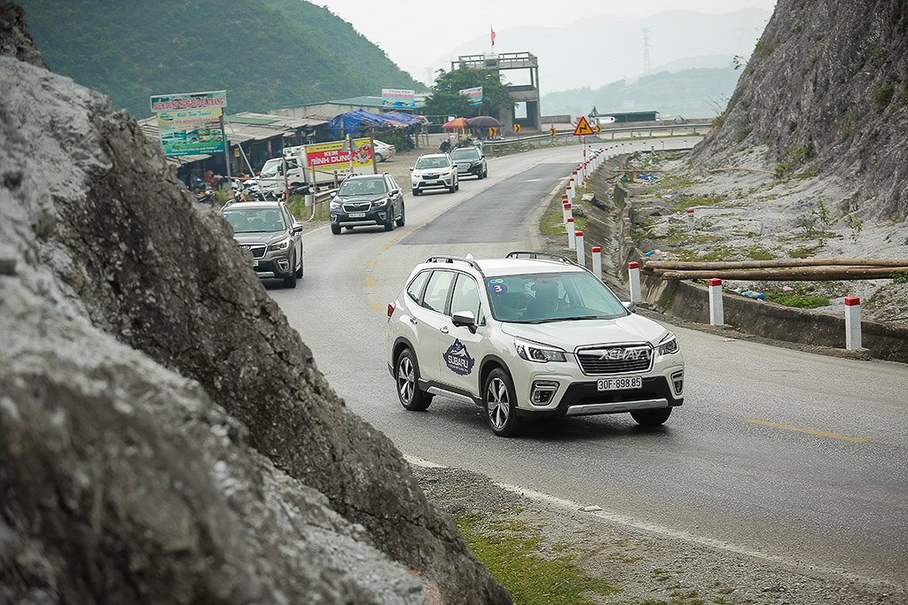 Dàn xe Subaru Forester thử nghiệm vận hành đường dài